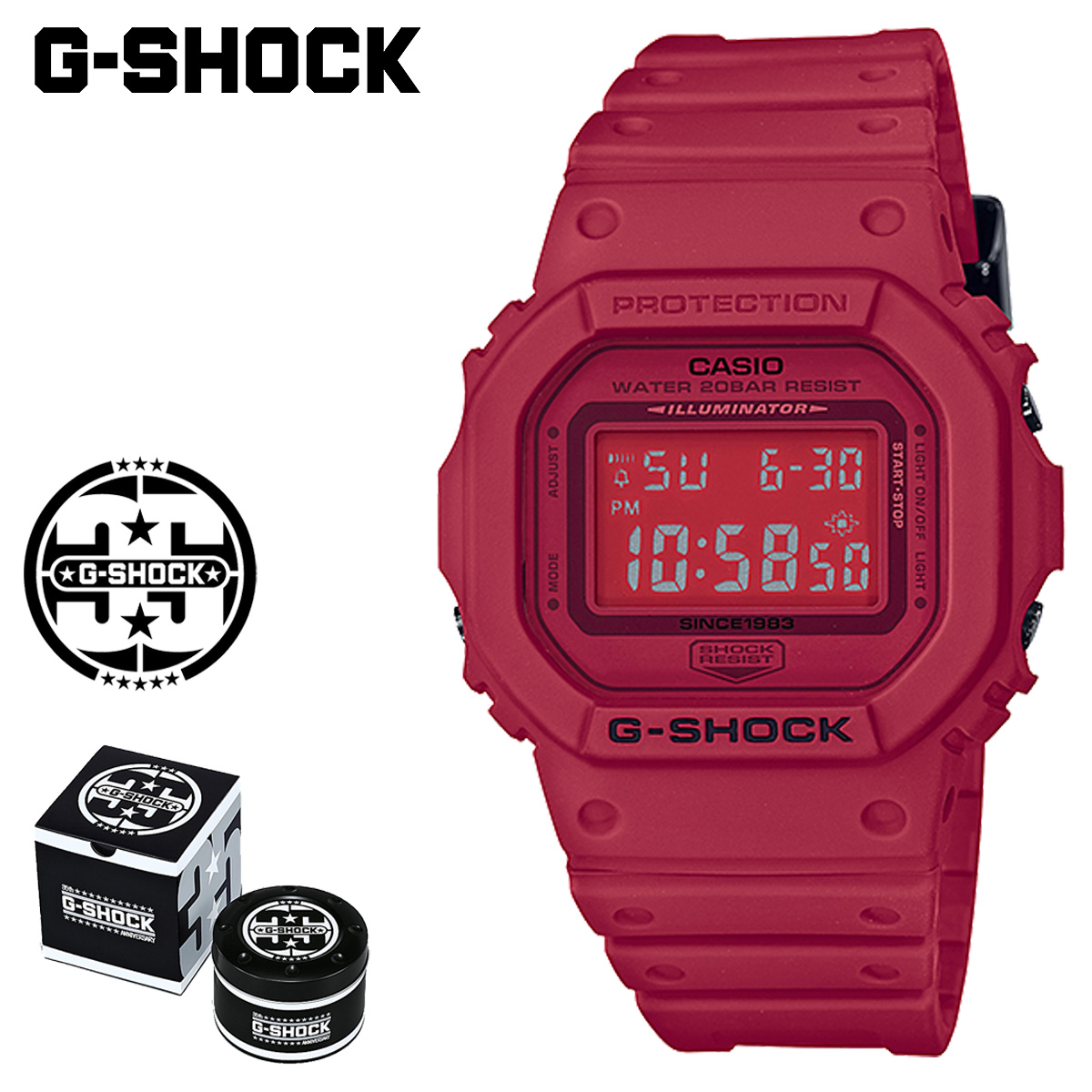 huge discount b85d2 22955 G shock G-Shock G- shock red red men gap Dis of the 35th ...