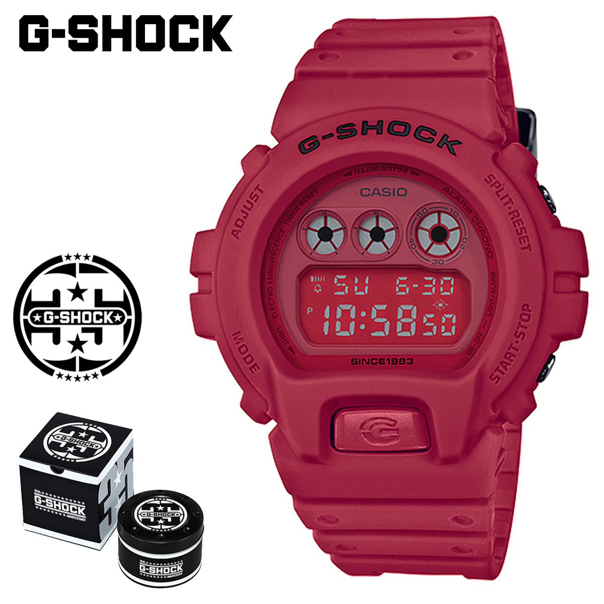 G Shock G Shock G Shock Red Red Men Gap Dis Of The 35th Anniversary Of Casio Casio G Shock Watch Dw 6935c 4jr Red Out
