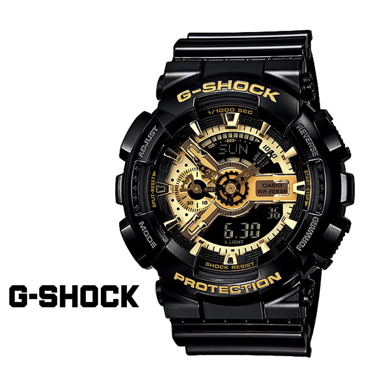 CASIO カシオ G-SHOCK 腕時計 GA-110GB-1AJF BLACK GOLD SERIES Gショック G-ショック ブラック ゴールド メンズ レディース