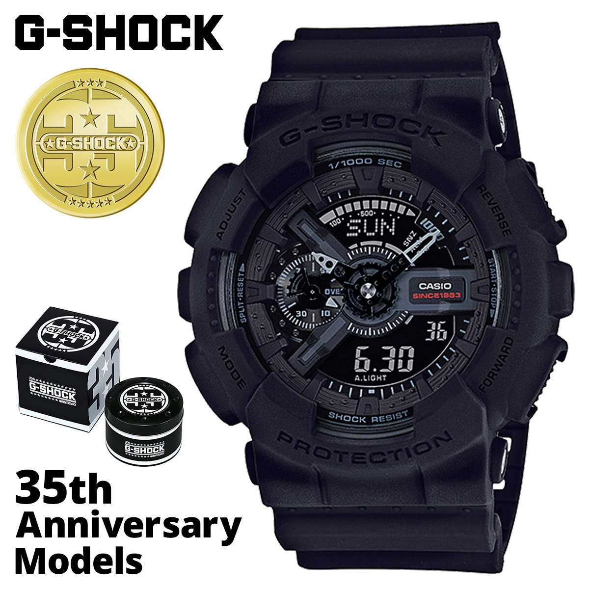 G Shock G Shock G Shock Black Black Men Gap Dis Of The 35th Anniversary Of Casio Casio G Shock Watch Ga 135a 1ajr Big Bang Black