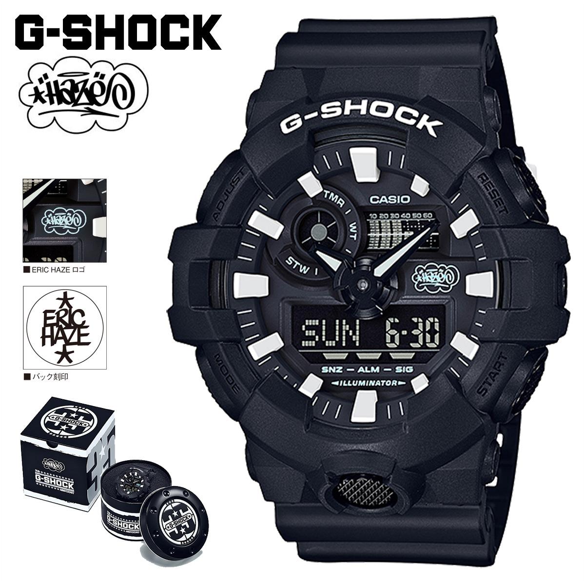 CASIO カシオ G-SHOCK 腕時計 GW-700EH-1AJR ERIC HAZECK コラボ ジーショック Gショック G-ショック ブラック メンズ レディース