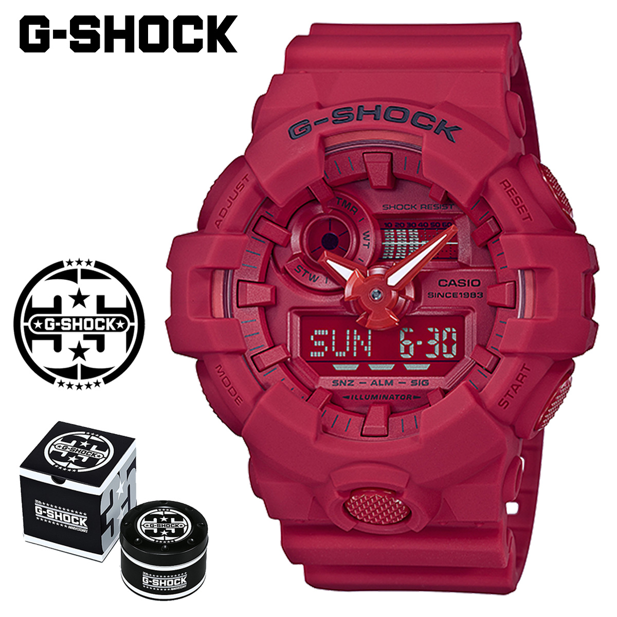 G Shock G Shock G Shock Red Red Men Gap Dis Of The 35th Anniversary Of Casio Casio G Shock Watch Ga 735c 4ajr Red Out