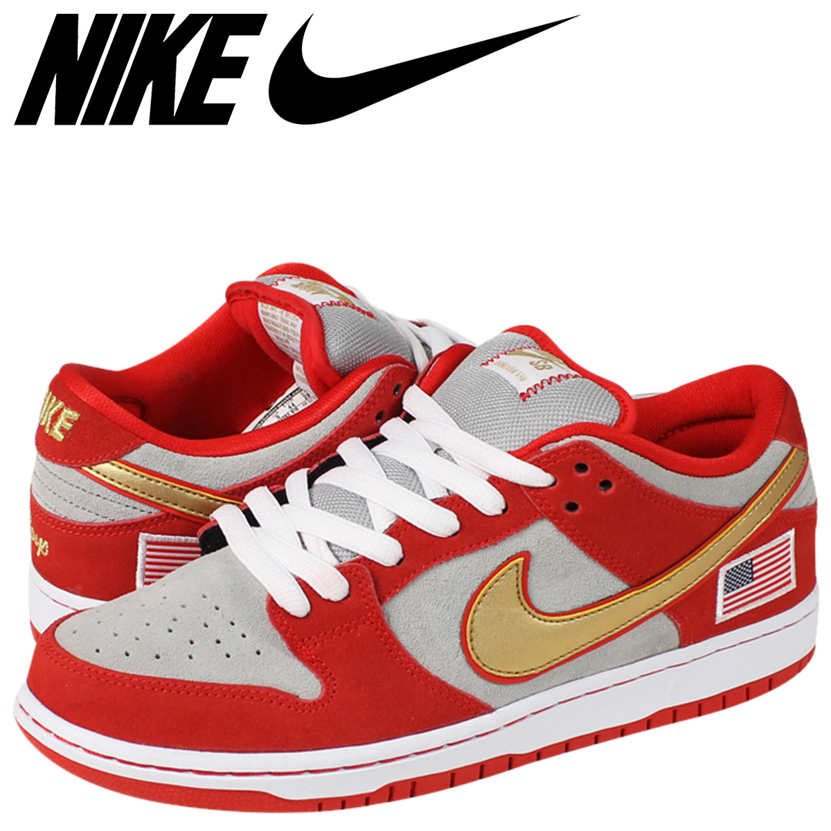 official photos 27ece e2ce3 NIKE Nike dunk sneakers DUNK LOW SB NASTY BOYS dunk low S B 304,292-610  challenge red red men