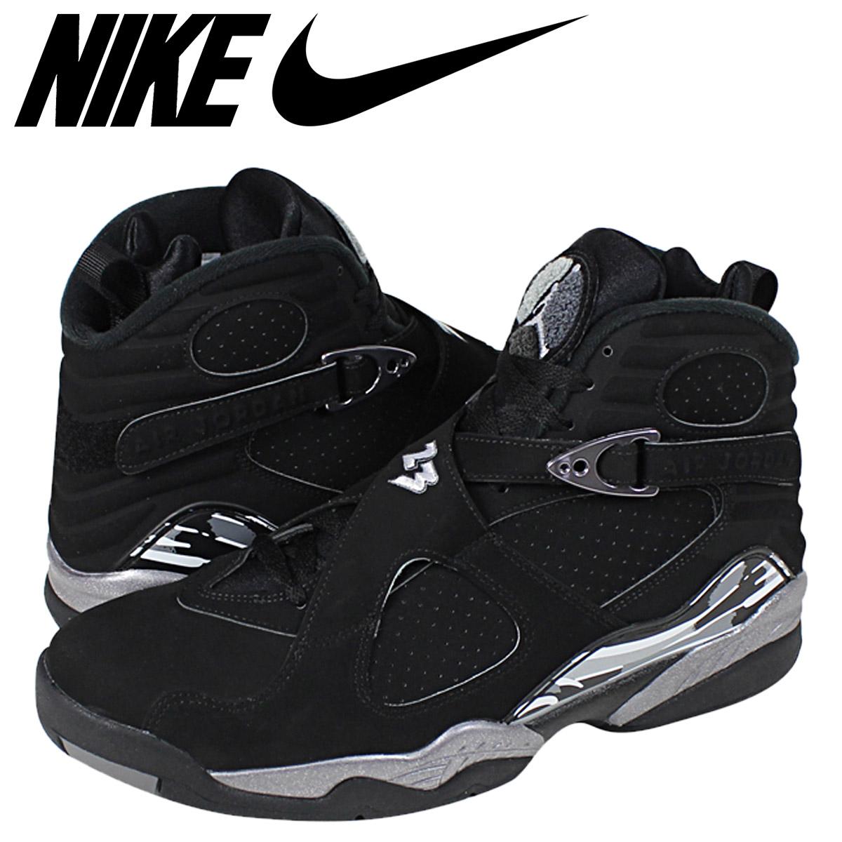 buy popular aaa39 be638 Nike NIKE Air Jordan sneakers AIR JORDAN 8 RETRO CHROME Air Jordan 8 Retro  chrome 305381-003 black mens