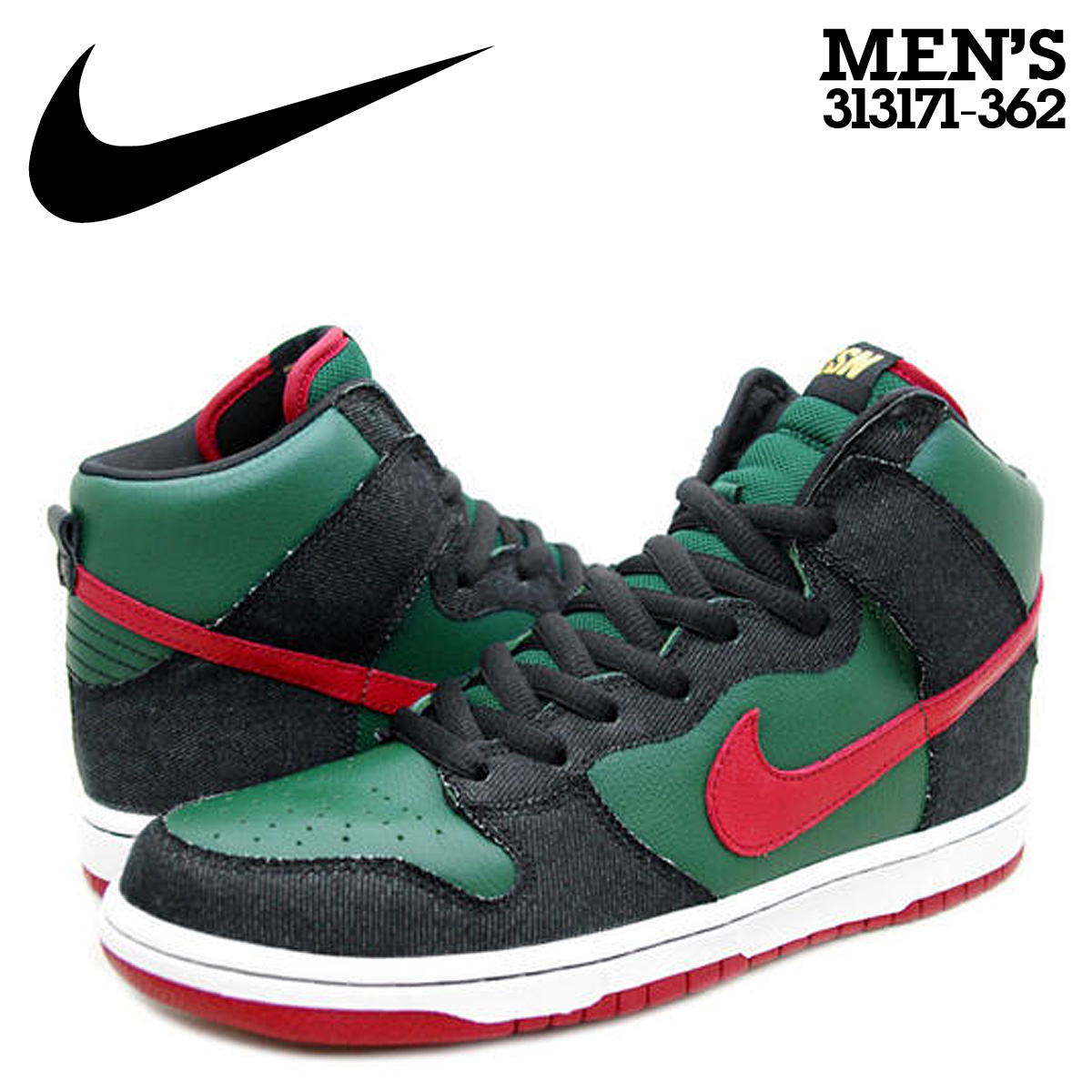 cheap for discount 72671 0f5c2 NIKE Nike dunk sneakers DUNK HIGH PREMIUM SB dunk low premium S B  313,171-362 green men
