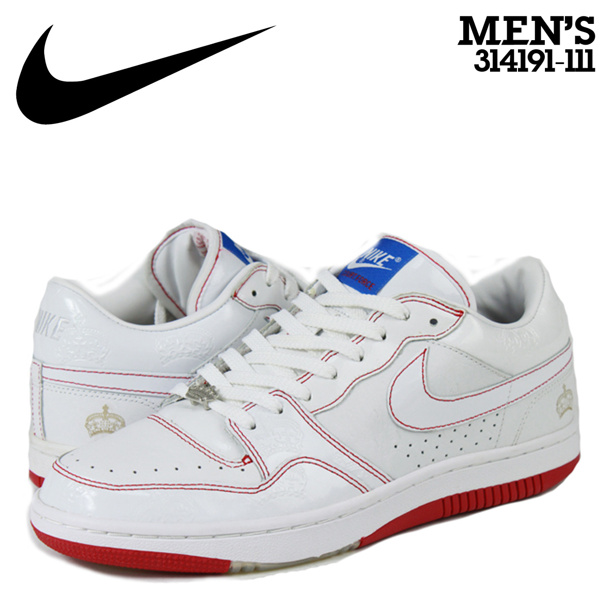 55b1f0b8db1739 Nike NIKE Court force sneakers COURT FORCE LOW MIGHTY CROWN Court force low  the mighty Crown 314191-111 white mens