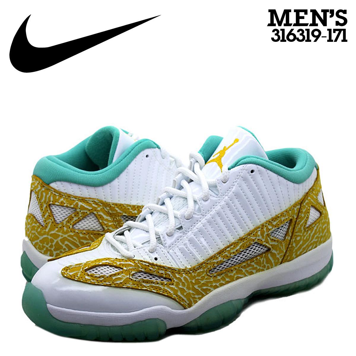 finest selection 95b58 0c899 NIKE Nike Air Jordan sneakers AIR JORDAN 11 RETRO LOW LSWHITE VARSITY MAIZE  AZURE Air Jordan 11 nostalgic low 316,319-171 white white gold men