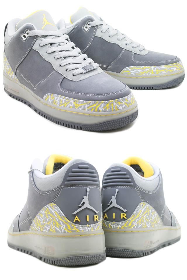 NIKE Nike Air Jordan sneakers AIR JORDAN FUSION 3 AF1 & AJ3 AJF air force fusion 3 323,626 071 gray men [◆]