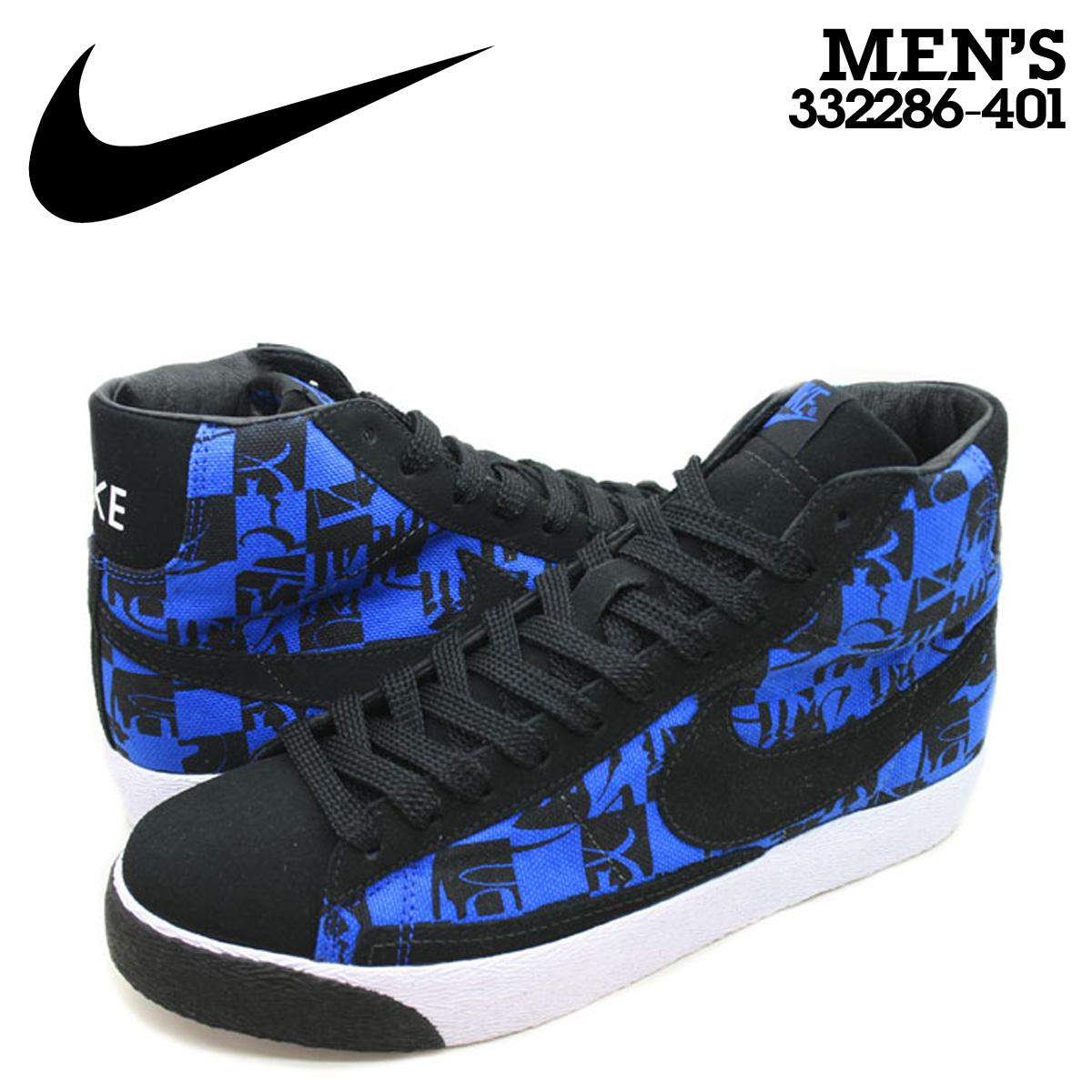 run shoes great deals 2017 top design NIKE Nike blazer sneakers STUSSY NEIGHBORHOOD BLAZER HIGH PREMIUM TZ  BONEYARDS ステューシーネイバーフッドコラボモデルブレーザープレミアム 332,286-401 blue men