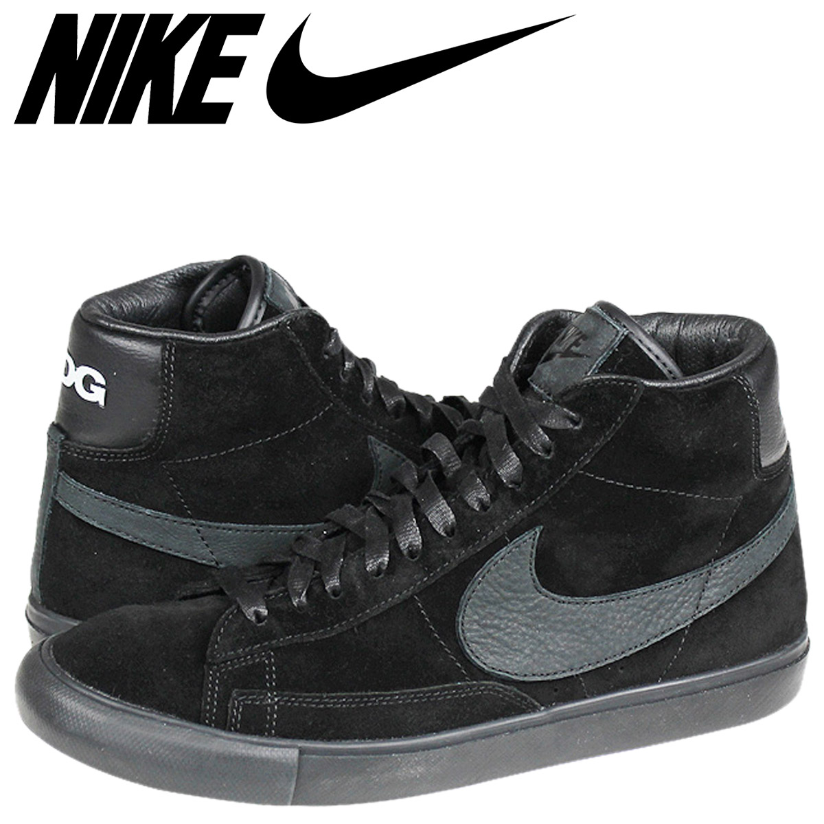 buy popular ea631 c7734 NIKE Nike blazer sneakers BLAZER HI SP BLACK COMME des GARCONS blazer high  black black コムデギャルソンブラザーコラボ CDG 704,571-001 black black men