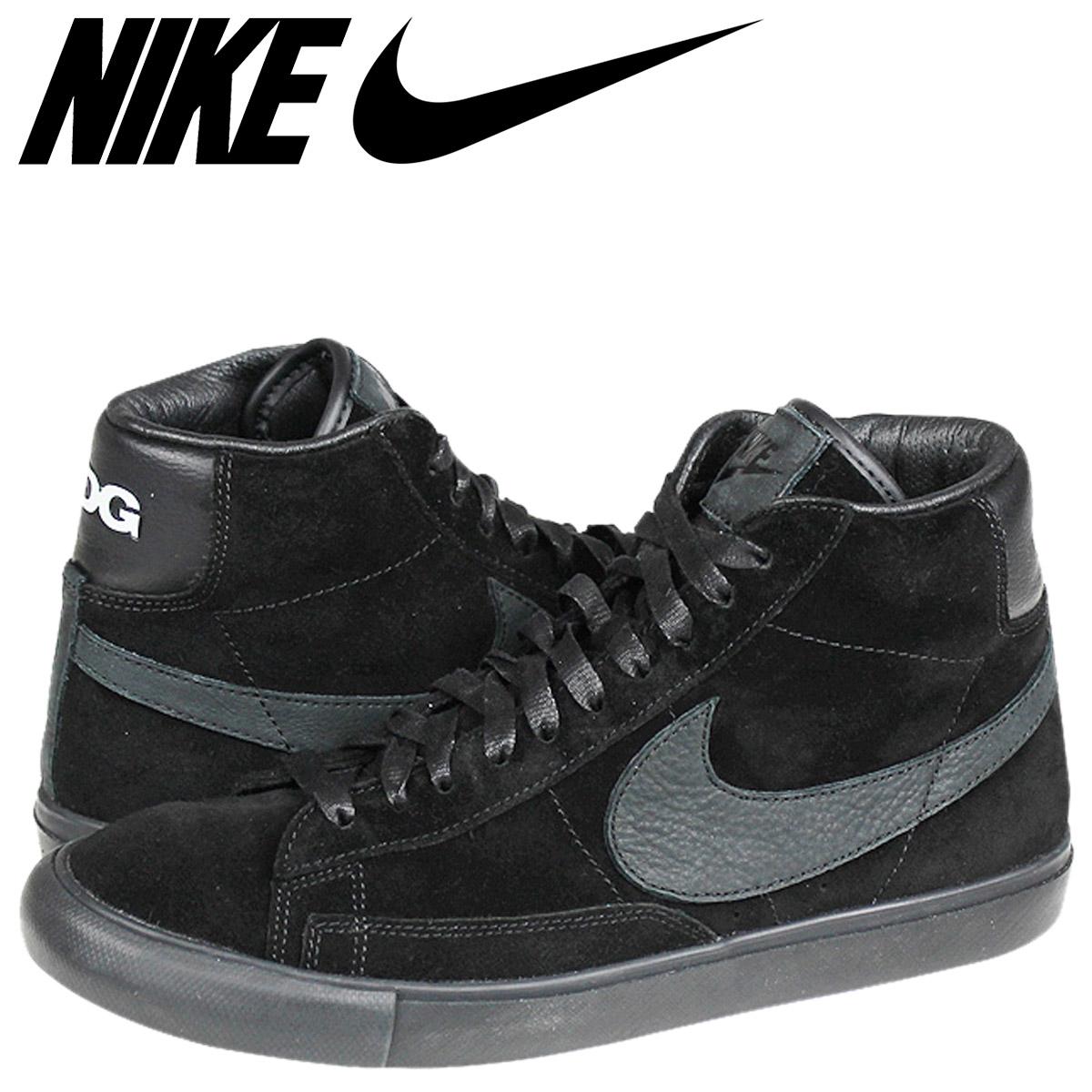 buy popular aa3e1 08944 NIKE Nike blazer sneakers BLAZER HI SP BLACK COMME des GARCONS blazer high  black black コムデギャルソンブラザーコラボ CDG 704,571-001 black black men