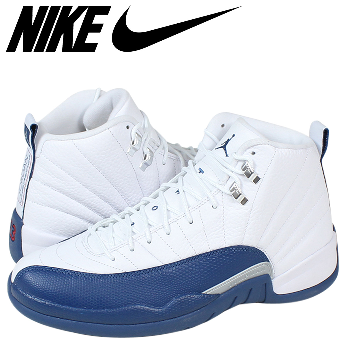 super popular 7ac59 38996 Nike NIKE Air Jordan sneakers AIR JORDAN 12 FRENCH BLUE Air Jordan 12  French blue 130690 - 113 white mens