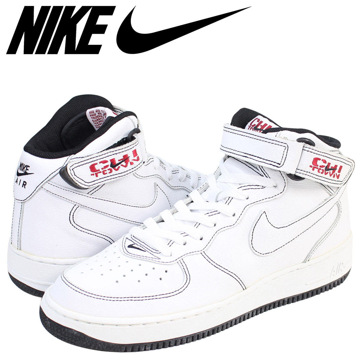 NIKE Nike air force 1 mid sneakers AIR FORCE 1 MID CHI TOWN 02 men's 304,096 112 shoes white white