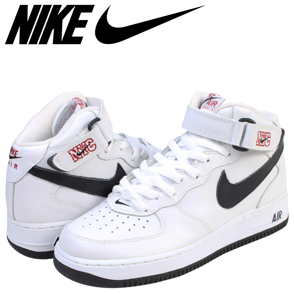 watch 883e5 982d6 NIKE Nike air force 1 mid sneakers AIR FORCE 1 MID NYC men 304,716-103  shoes white white