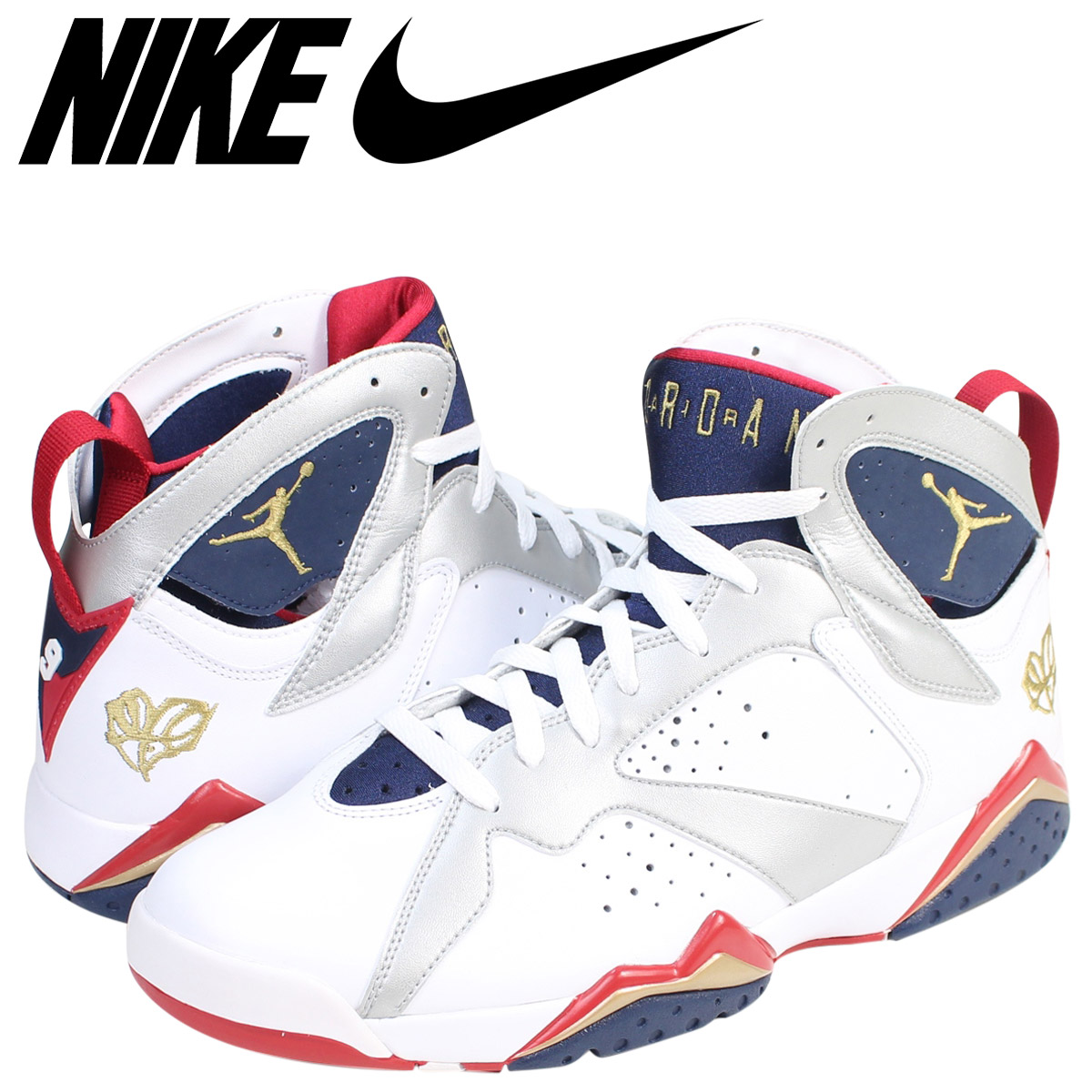 hot sale online 93f6f 3b5e5 NIKE Nike Air Jordan 7 nostalgic sneakers AIR JORDAN 7 RETRO OLYMPIC  304,775-103 men's shoes white white