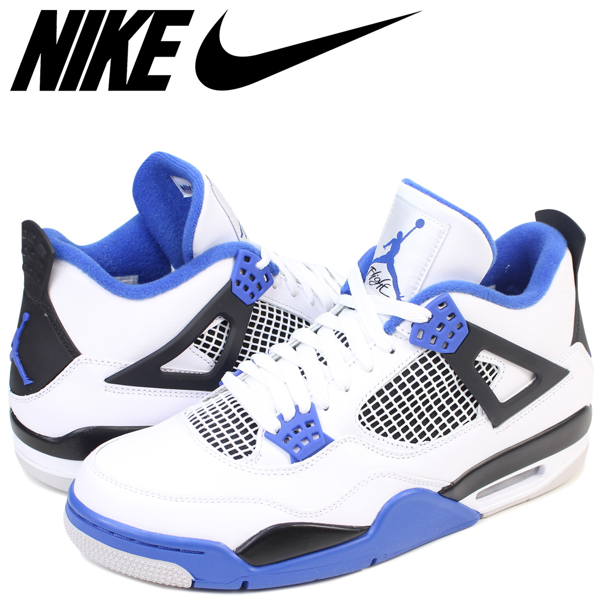 best website 21285 f69f4 NIKE Nike Air Jordan 4 nostalgic sneakers AIR JORDAN 4 RETRO men  308,497-117 shoes white white
