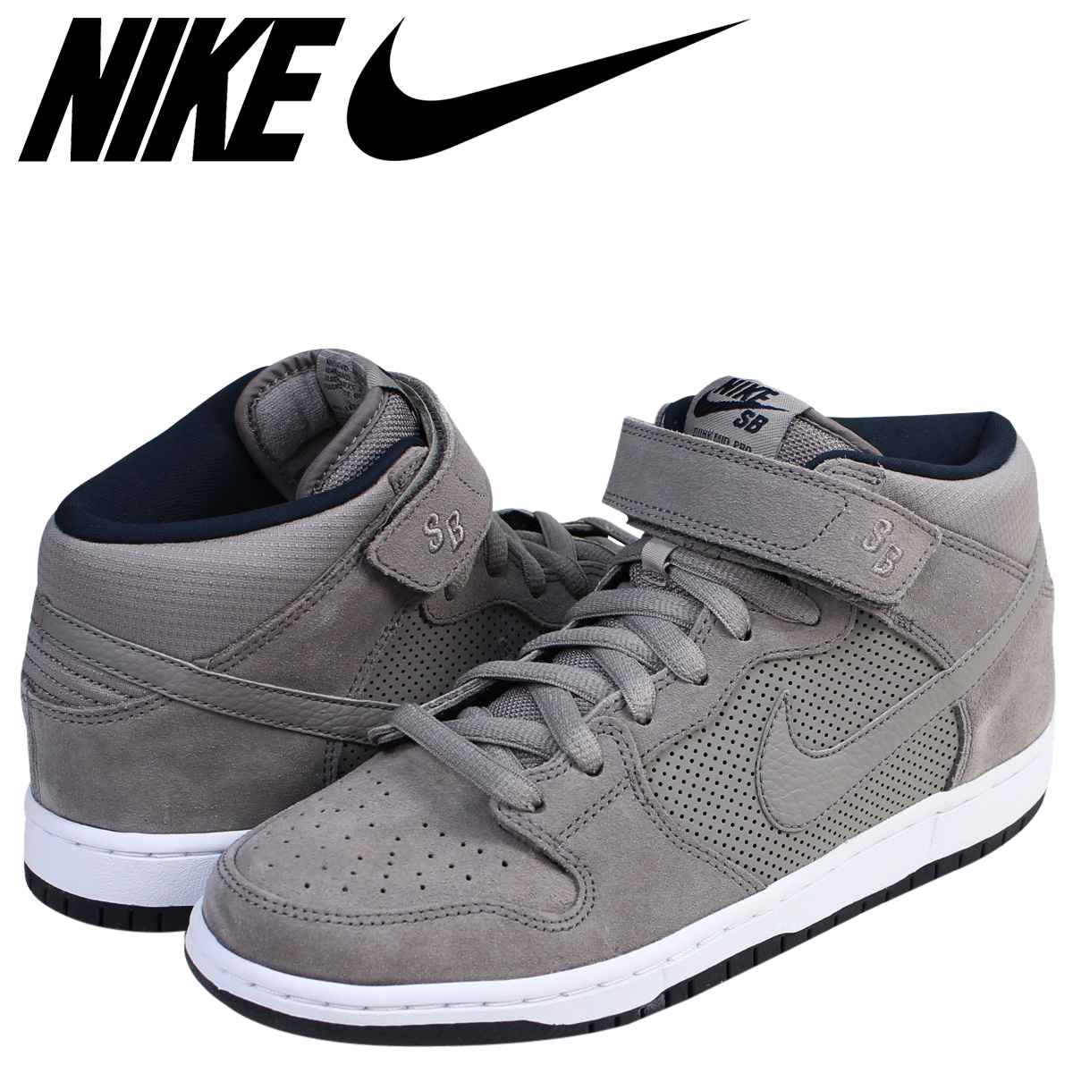 low priced 287bc 5bb29 NIKE Nike SB dunk sneakers DUNK MID PRO men 314,383-050 shoes gray