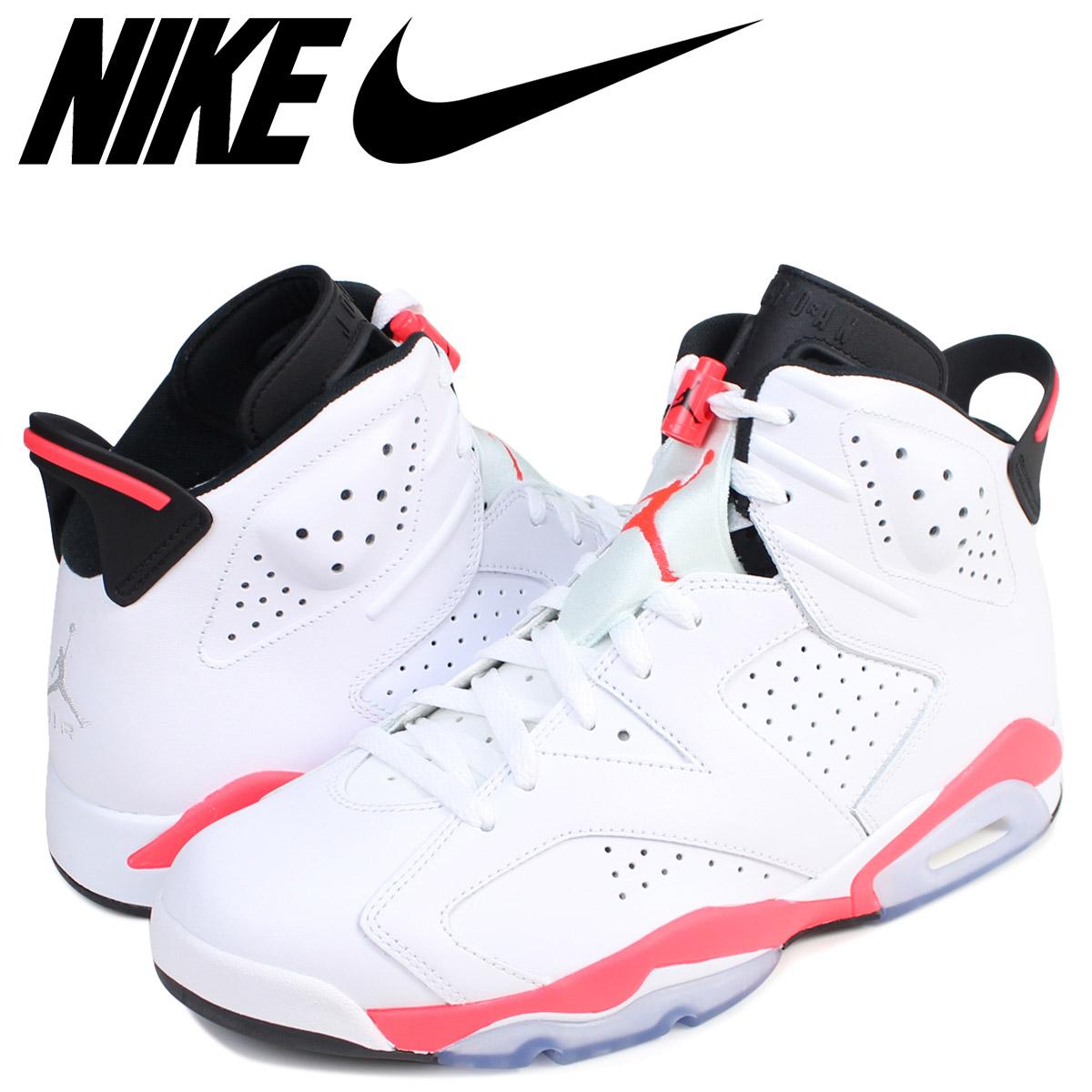 reputable site ef654 07190 NIKE Nike Air Jordan 6 nostalgic sneakers AIR JORDAN 6 RETRO INFRARED men  384,664-123 shoes white white