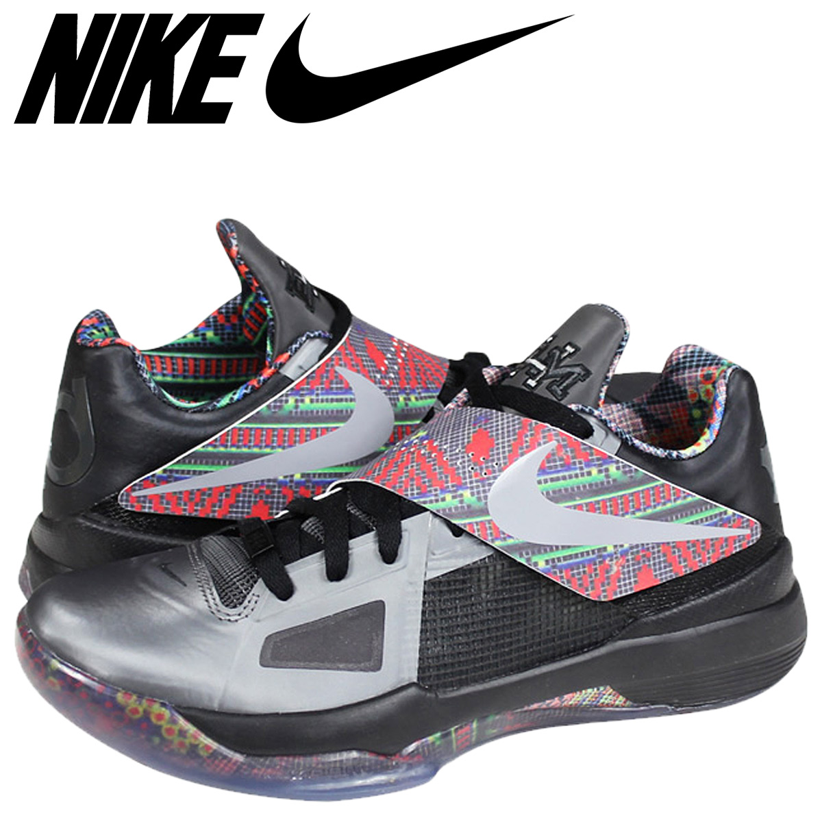 4d2f0ad1ea36 Nike NIKE zoom sneakers ZOOM KD 4 BLACK HISTORY MONTH Kevin Durant  530960-001 black mens