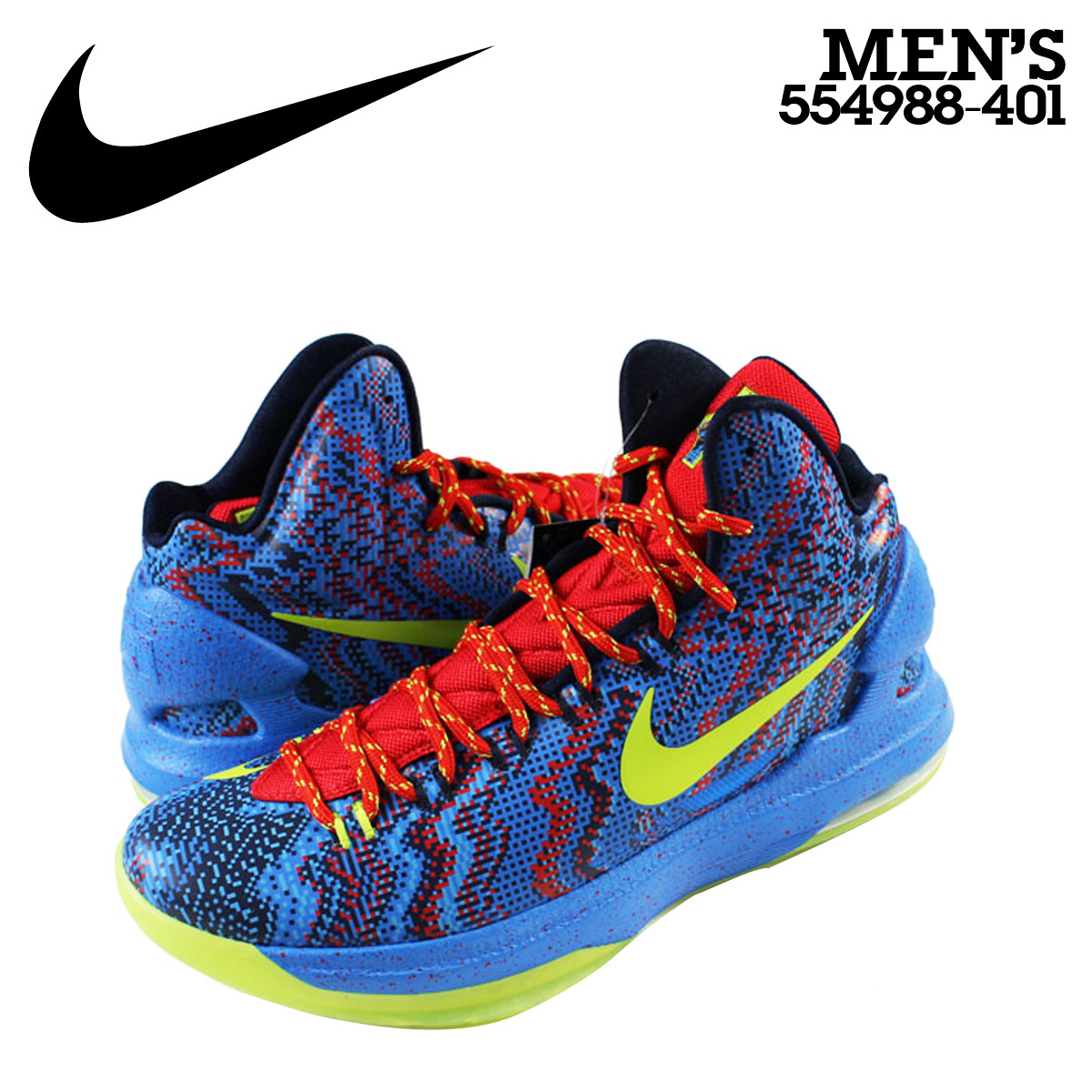 a10ab63e451d Nike NIKE zoom sneakers ZOOM KD 5 CHRISTMAS EDITION 2 K 12 Kevin Durant  Christmas 554988-401 mens blue