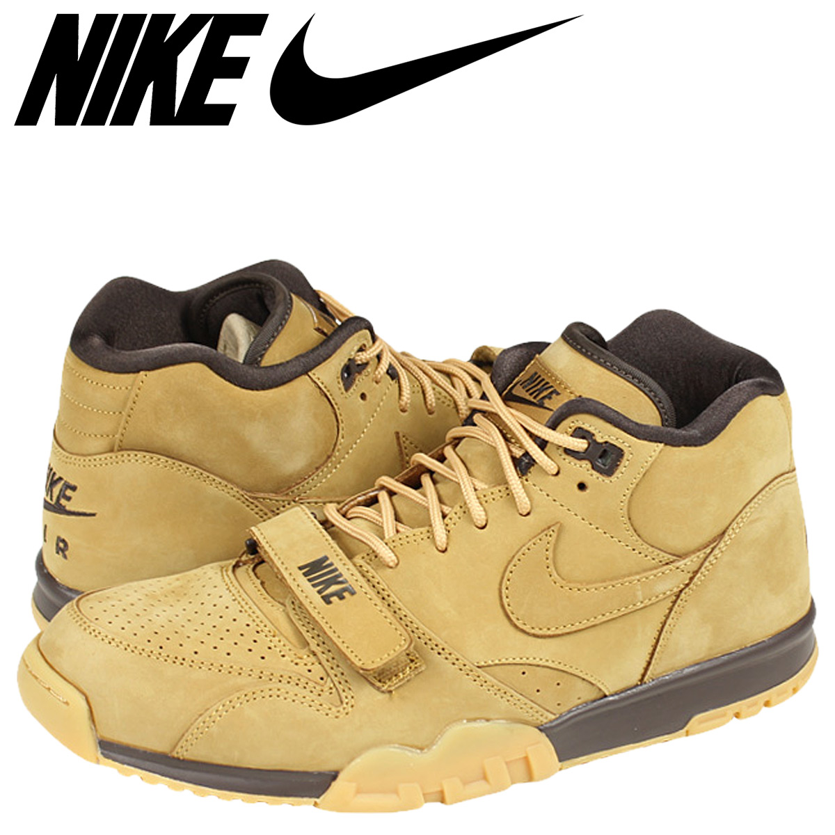 Nike 1 Flax Air Brown Men Sneakers Collection 081 Trainer 201 Prm Mid Qs 607 0k8nwOPX
