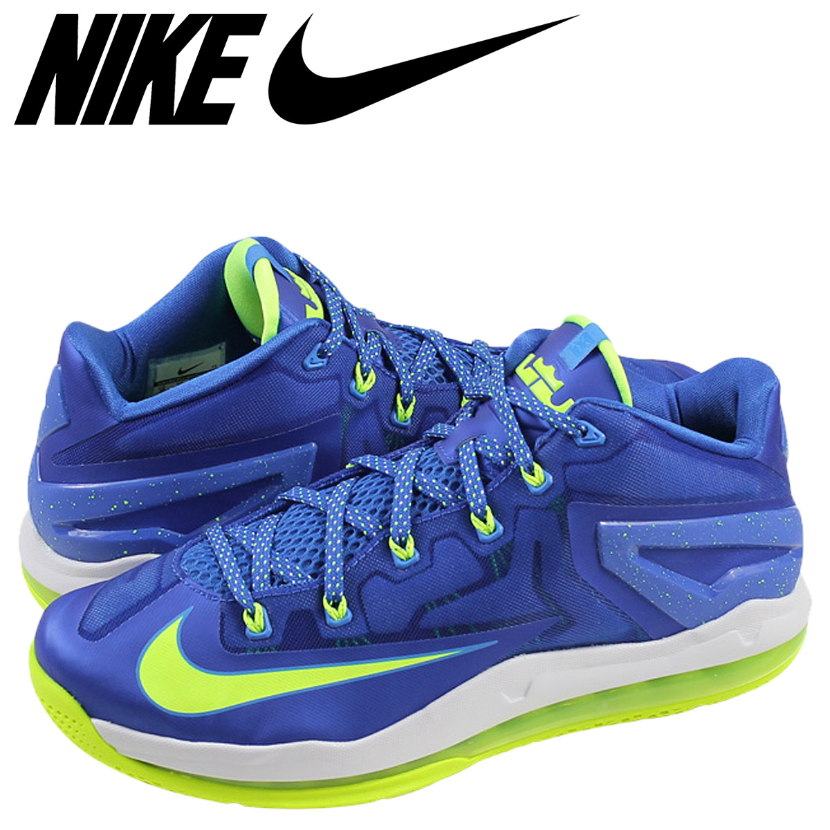 check out 6757f 0dd93 Nike NIKE LeBron sneakers LEBRON 11 LOW SPRITE LeBron low 11 sprite  642849-471 blue ...