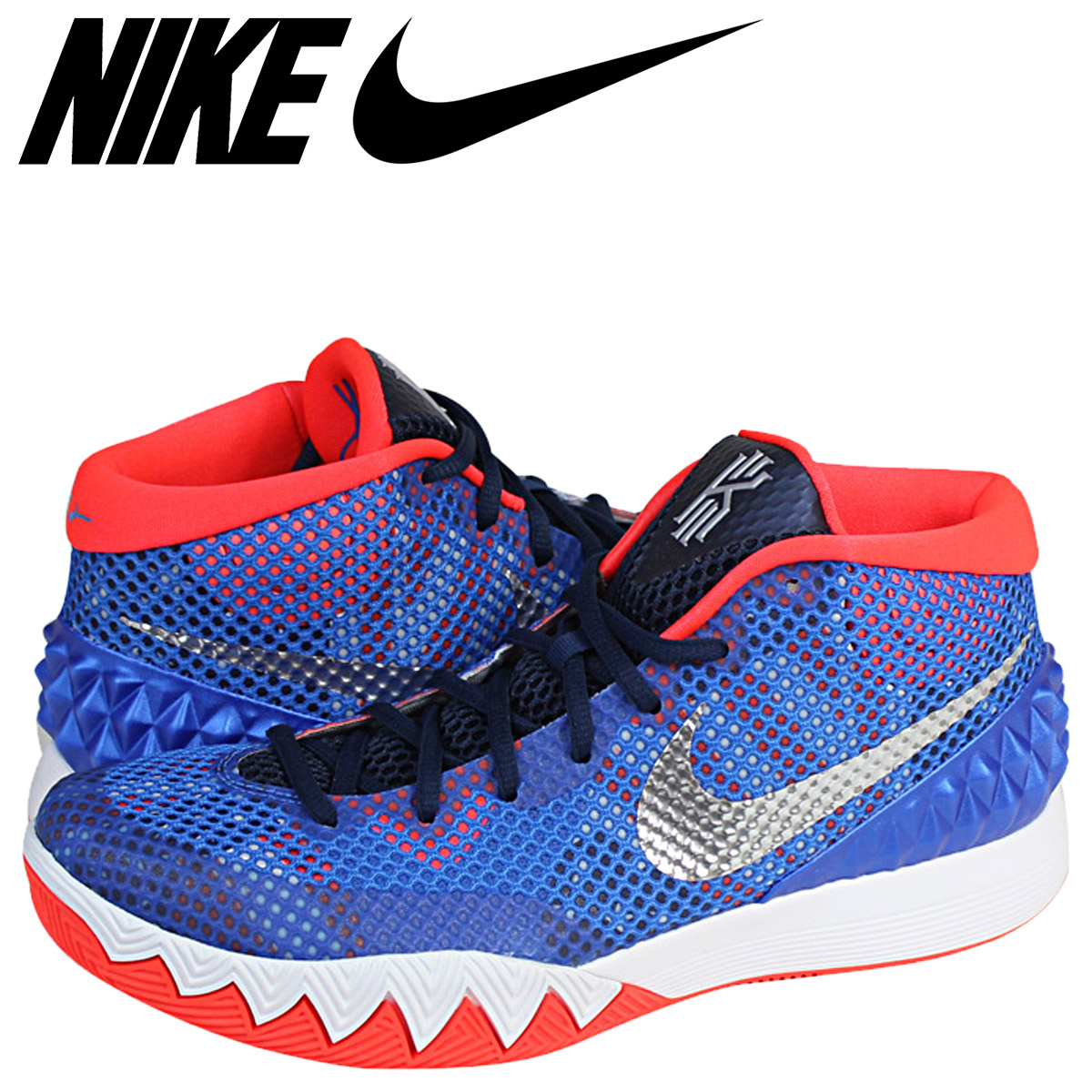 finest selection 889dc 1f0d0 NIKE Nike chi Lee sneakers KYRIE 1 USA INDEPENDENCE DAY independence D  705,277-401 blue men