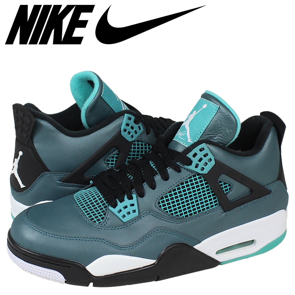 c6172ba3f4e613 Nike NIKE Air Jordan sneakers AIR JORDAN 4 RETRO 30TH Air Jordan 4 30  anniversary of 705331-330 green mens