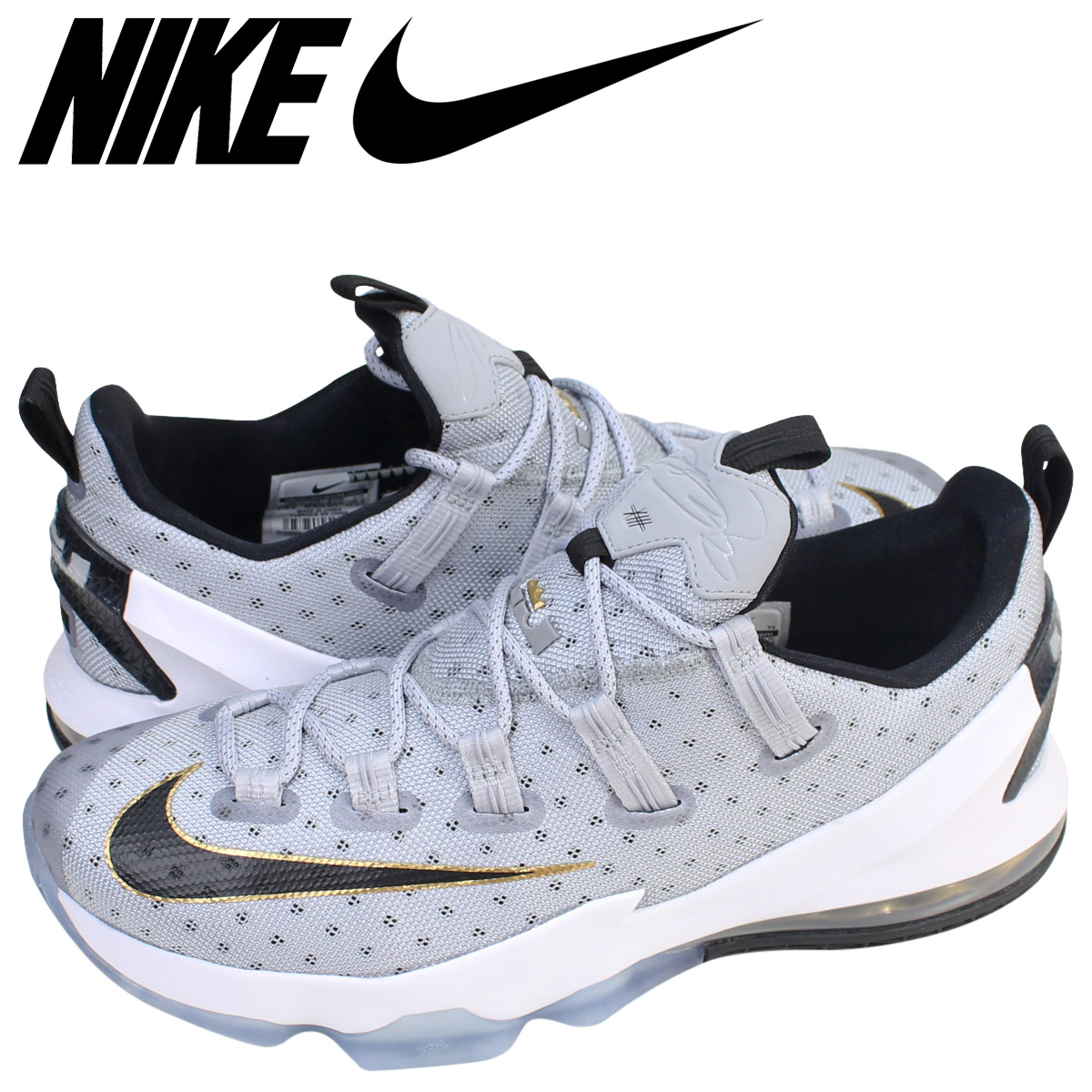 pretty nice 6a189 3dbb2 ... gold white black 831925  nike nike revlon 13 sneakers lebron 13 low ep  831926 071 mens shoes gray