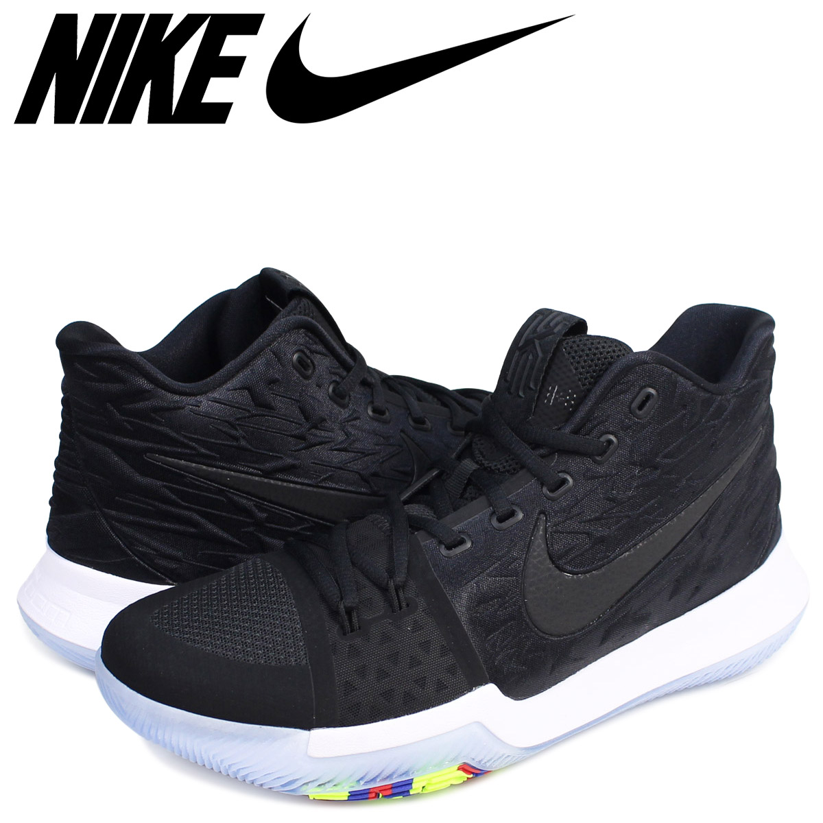 buy popular 9a93a c239e NIKE Nike chi Lee 3 sneakers NIKE KYRIE 3 EP BLACK ICE 852,396-009 chi Lee  Irving men shoes black black
