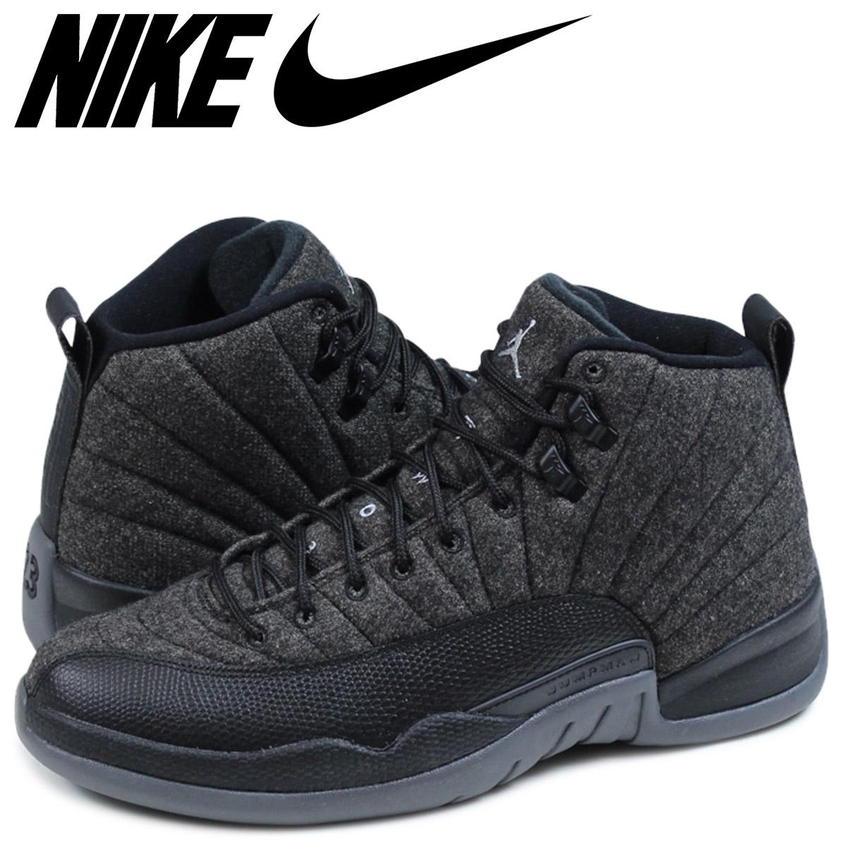 buy online 29d68 62bc4 Nike NIKE Air Jordan sneakers men JORDAN AIR JORDAN 12 RETRO WOOL Air Jordan  12 852,627-003 black