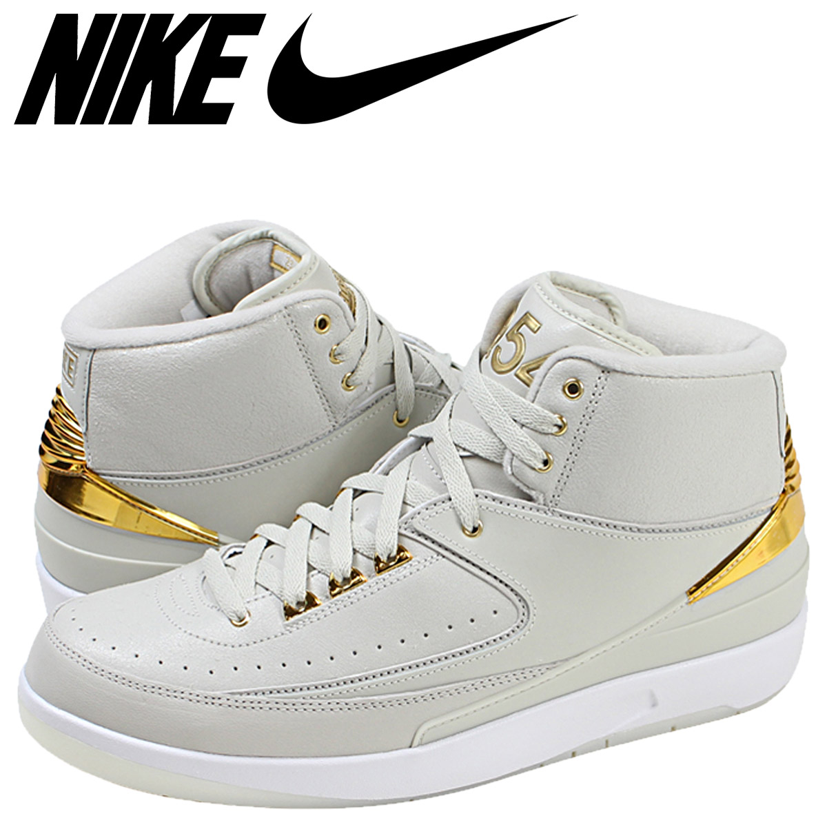 new concept 8eb61 cd146 NIKE Nike Air Jordan sneakers AIR JORDAN 2 RETRO QUAI 54 Air Jordan  nostalgic 866,035-001 beige men