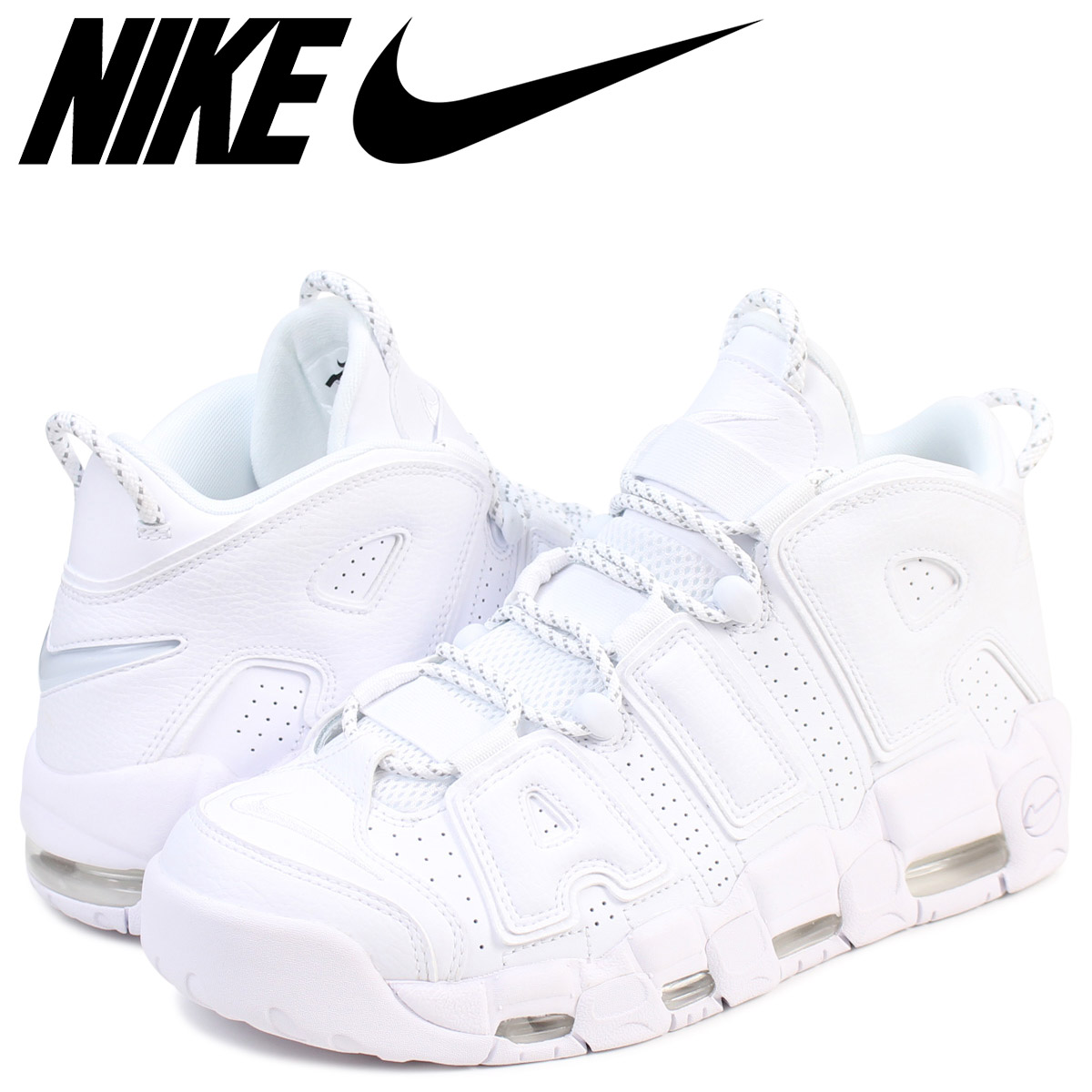 Nike NIKE up tempo sneakers AIR MORE UPTEMPO 96 921,948-100 men's shoes  white