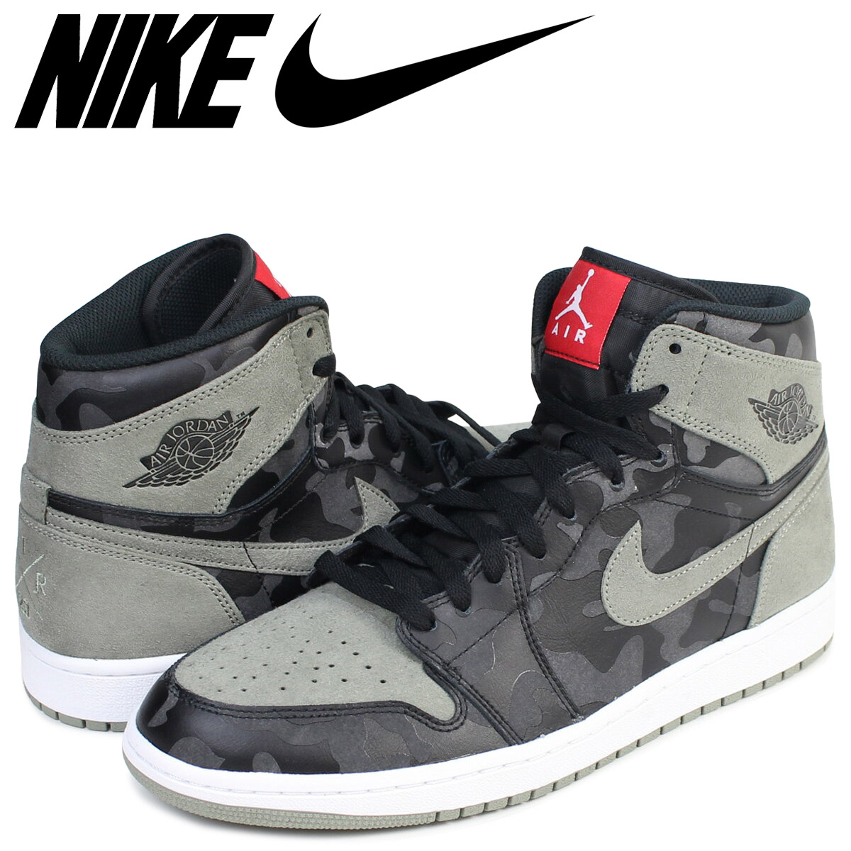 reputable site 93b9e 2003c SOLD OUT Nike NIKE Air Jordan 1 nostalgic high sneakers AIR JORDAN 1  RETRO HIGH PREMIUM AA3993-034 men shoes black