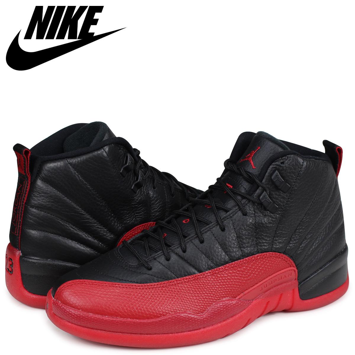 new york 1d030 1c529 NIKE Nike Air Jordan 12 nostalgic sneakers men AIR JORDAN 12 RETRO FLU GAME  full game 130,690-002 black black