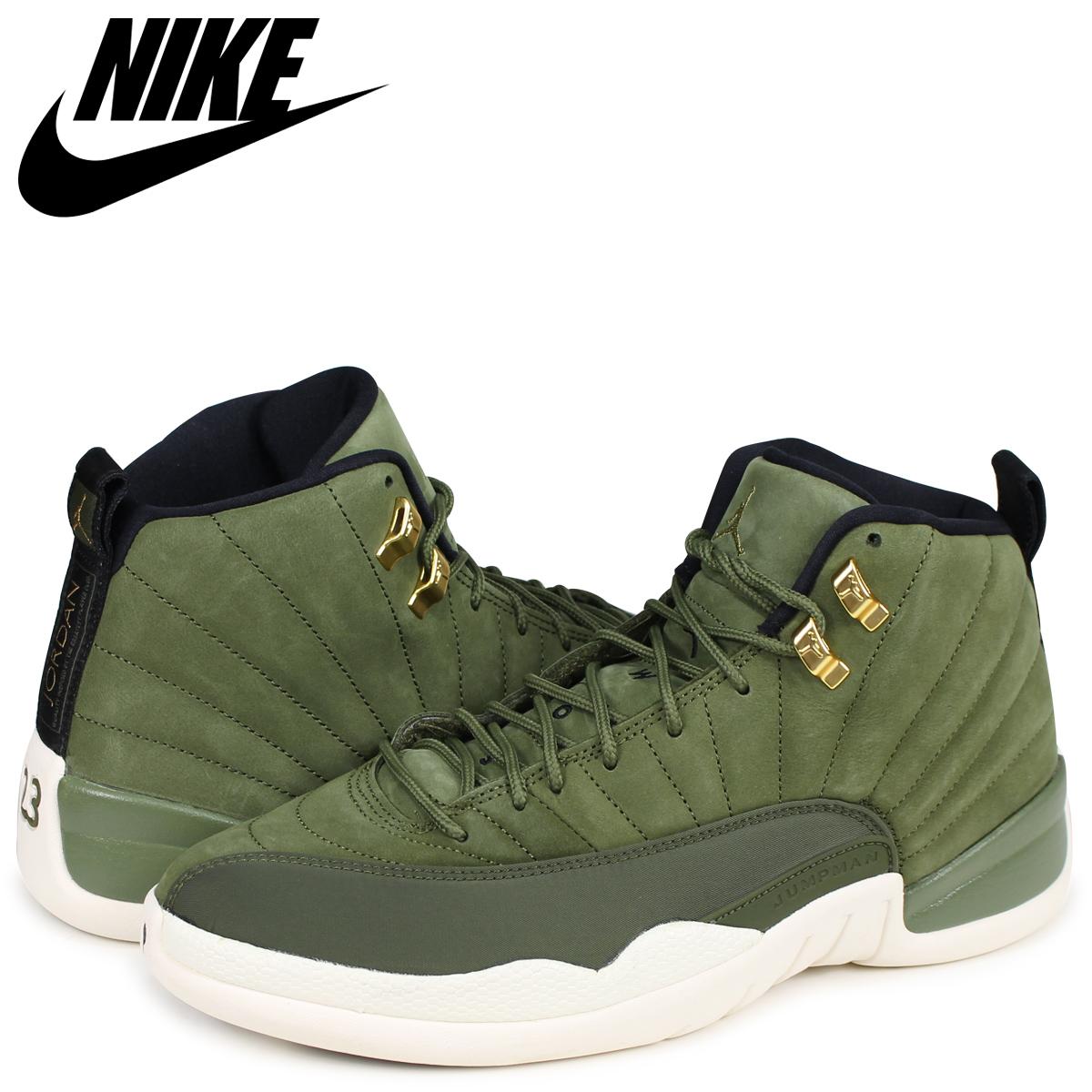lowest price f9cea 43e6e NIKE Nike Air Jordan 12 nostalgic sneakers men AIR JORDAN 12 RETRO  130,690-301 olive