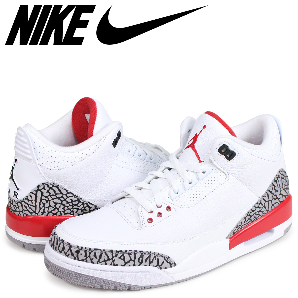 official photos b79a0 47a06 NIKE Nike Air Jordan 3 nostalgic sneakers men AIR JORDAN 3 RETRO KATRINA  136,064-116 white white
