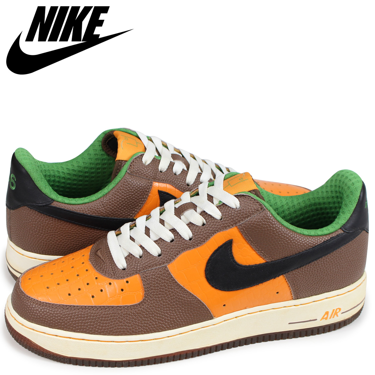 size 40 b6f69 d9c99 NIKE Nike air force 1 sneakers men AIR FORCE 1 LOW PREMIUM NFL 312,945-801  orange