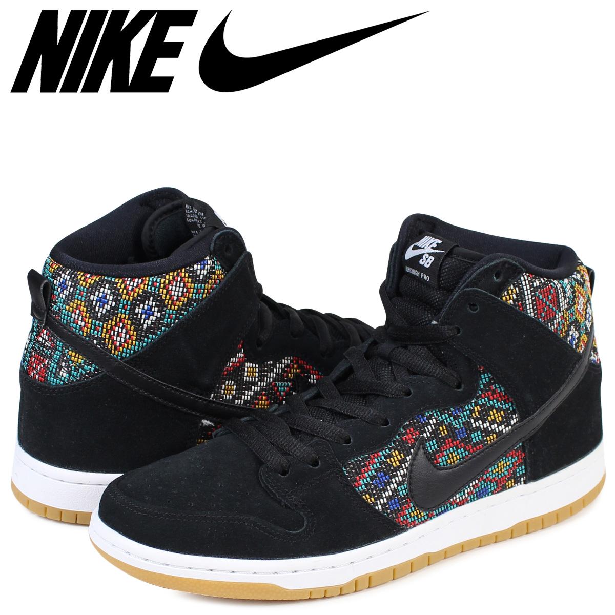 NIKE Nike SB dunk high sneakers DUNK HIGH PREMIUM SEAT COVER 313,171 030 men's black black