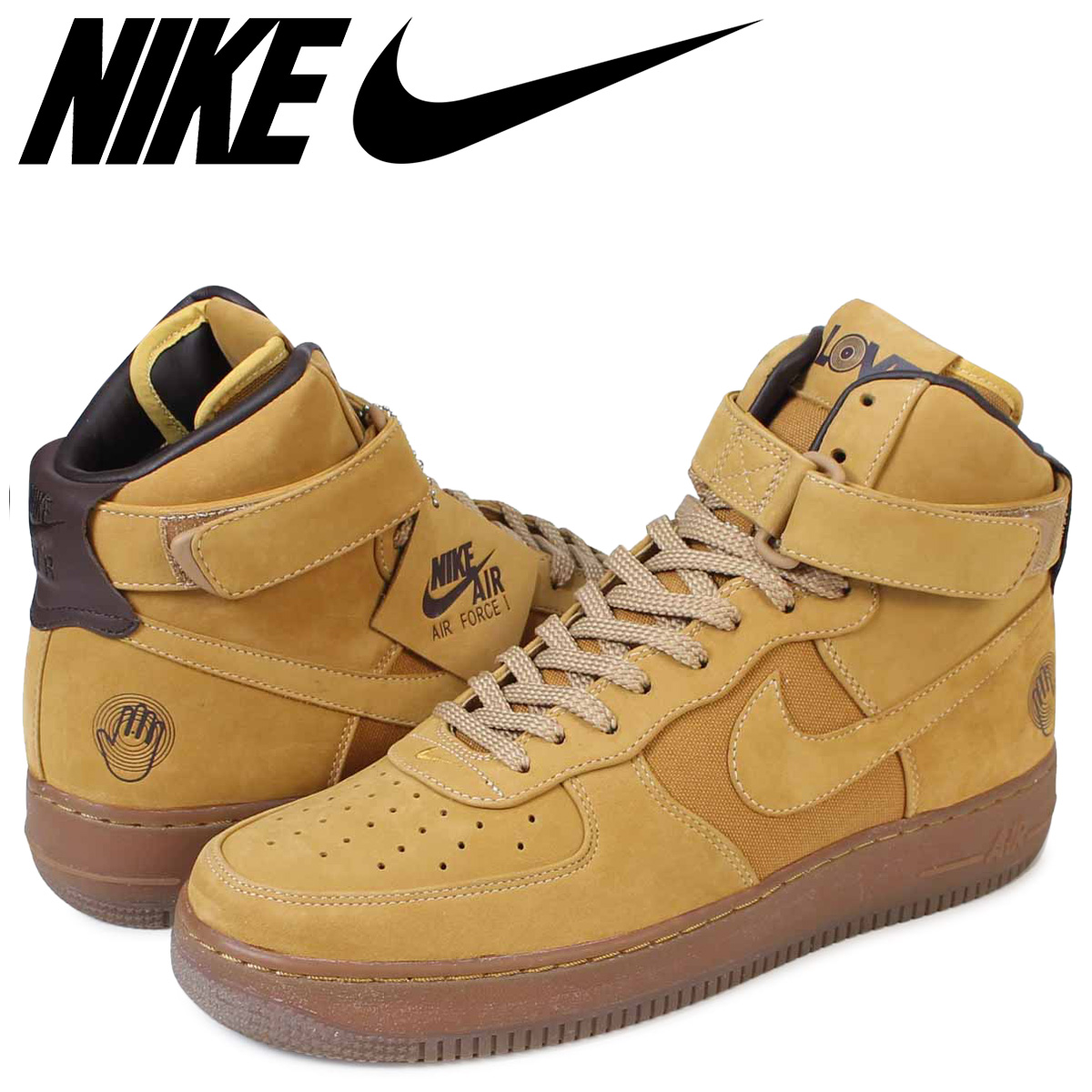 NIKE Nike air force 1 sneakers AIR FORCE 1 HIGH PREMIUM 318,431-771 low men  shoes brown