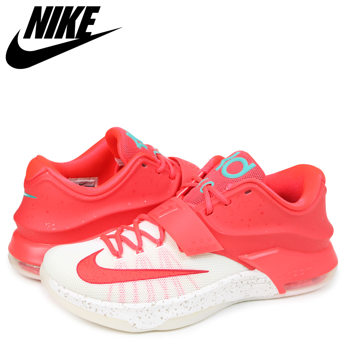 brand new 5b836 fcd92 NIKE Nike KD 7 Kevin Durant sneakers men XMAS red 707,560-613