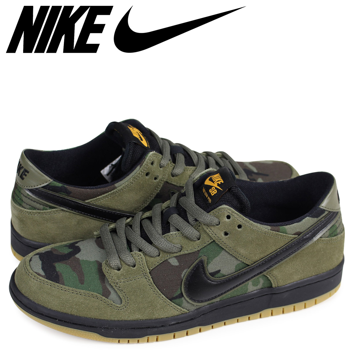 6fde35cfb705a NIKE Nike SB dunk low sneakers men ZOOM DUNK LOW PRO 854,866-209 olive duck  ...
