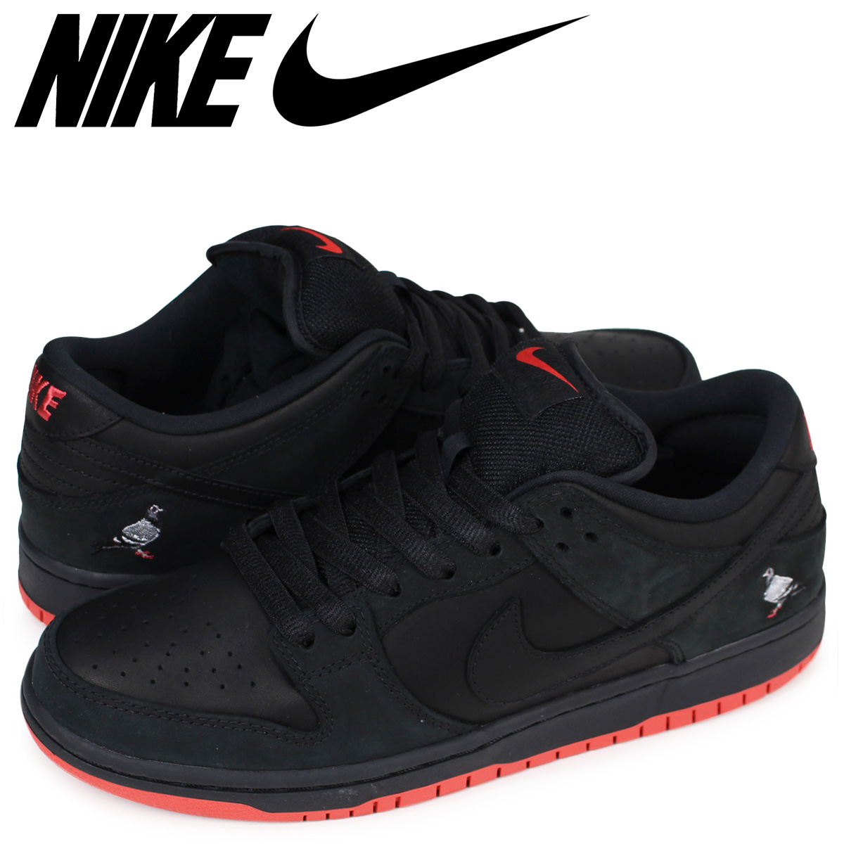 newest be995 3a0a5 NIKE Nike SB dunk low sneakers ZOOM DUNK LOW TRD QS PIGEON 883,232-008  men's black black