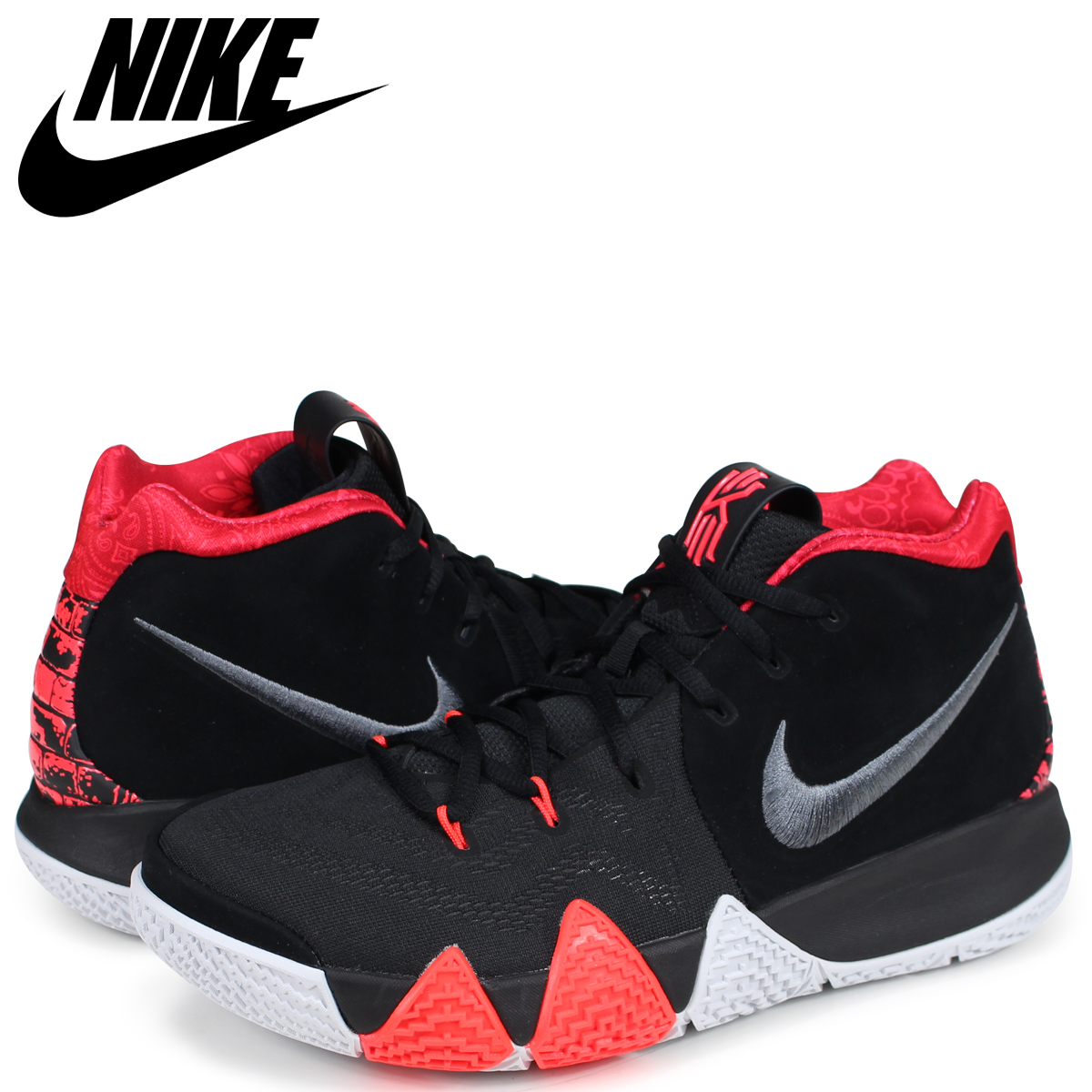 NIKE ナイキ カイリー4 スニーカー メンズ KYRIE 4 EP 41 FOR THE AGES 943807-005 ブラック 黒 【zzi】