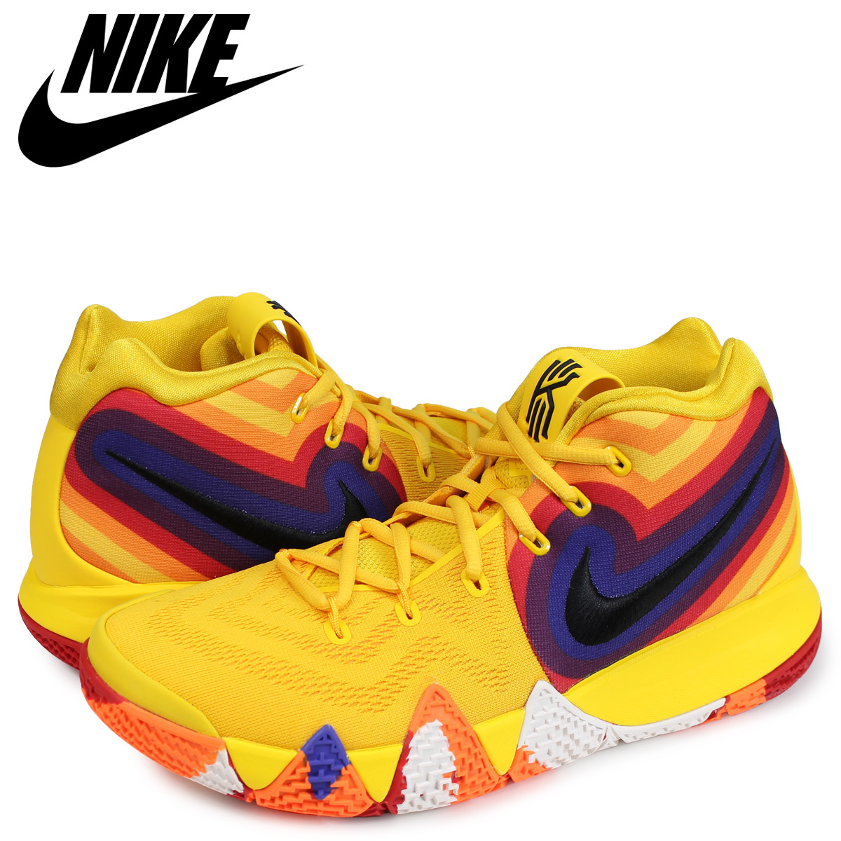 the latest 6cb93 60ffc NIKE Nike chi Lee 4 sneakers men KYRIE 4 EP 70s DECADES PACK yellow  943,807-700