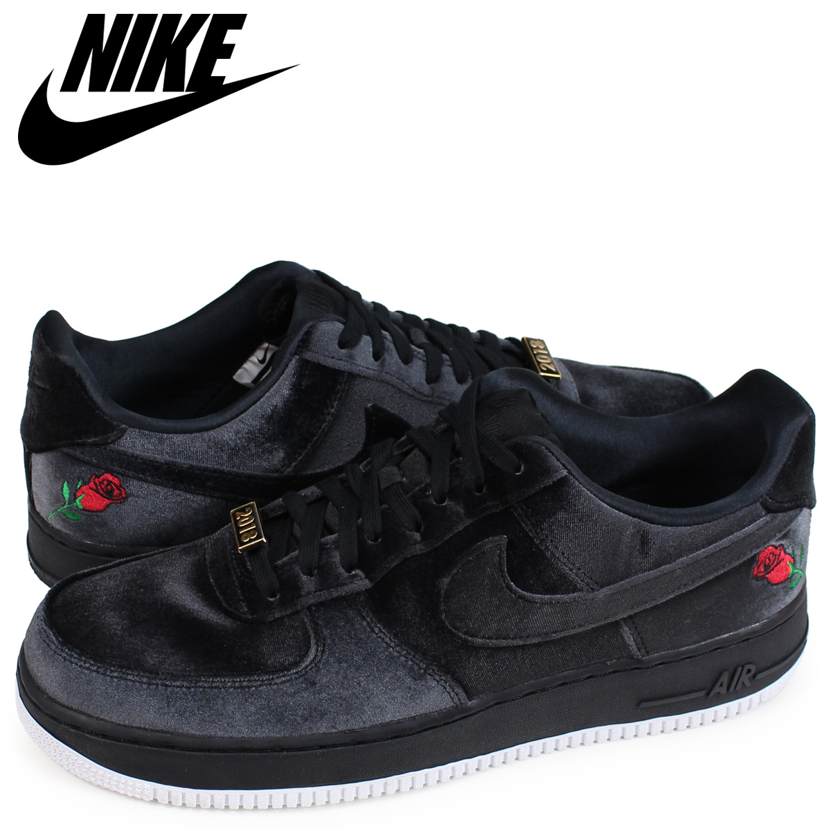 NIKE Nike air force 1 sneakers men AIR FORCE 1 07 QS VELVET black black AH8462 003