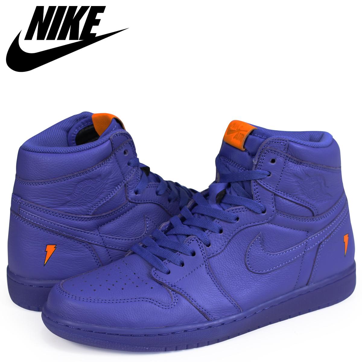 NIKE Nike Air Jordan 1 nostalgic high sneakers men AIR JORDAN 1 RETRO HIGH  OG G8RD BE LIKE MIKE GRAPE AJ5997-555 blue d18fc8112
