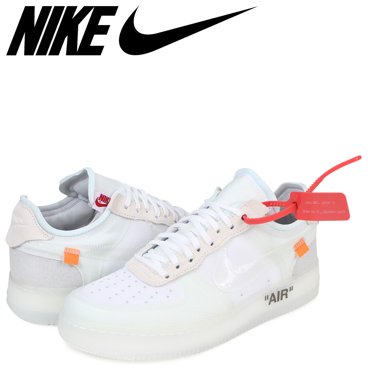 NIKE Nike OFF WHITE air force 1 sneakers AIR FORCE 1 LOW VIRGIL ABLOH THE TEN AO4606 100 men white white