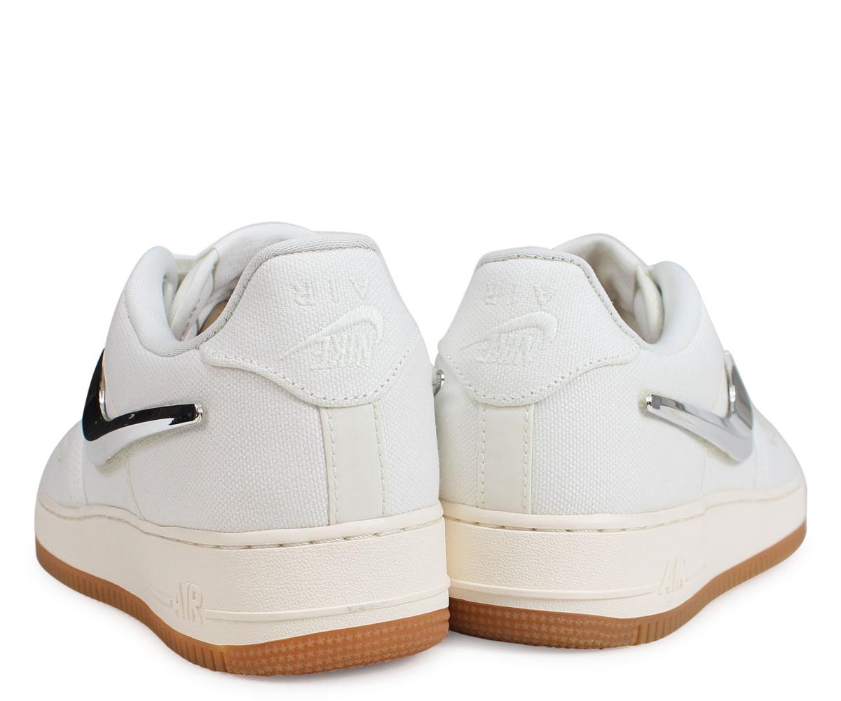 bd5989773a63 NIKE Nike air force 1 sneakers men AIR FORCE 1 LOW TRAVIS SCOTT white AQ4211 -101