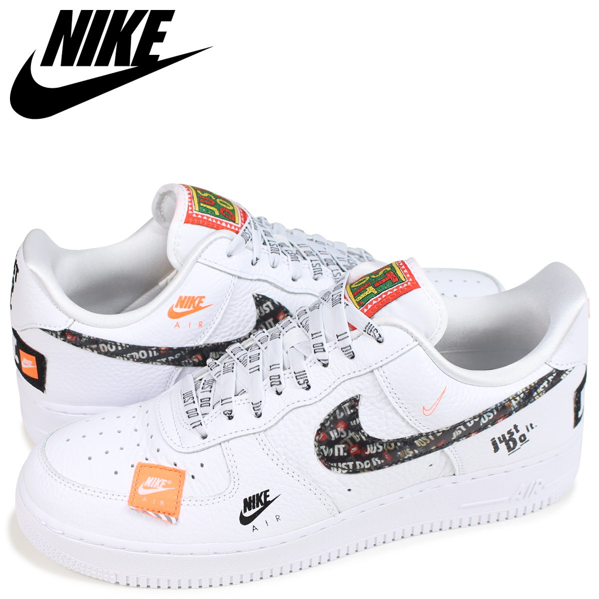 NIKE Nike air force 1 sneakers men AIR FORCE 1 07 PREMIUM JUST DO IT AR7719 100 white white